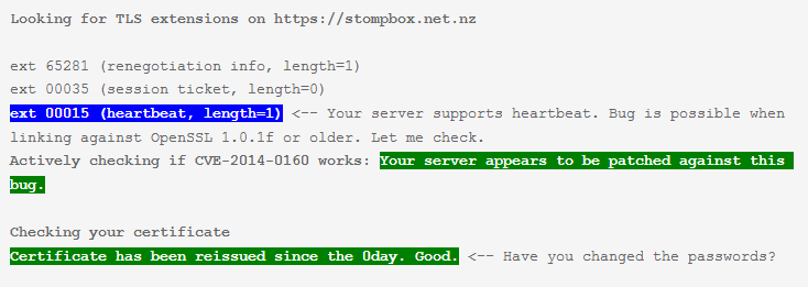 Heartbleed OpenSSL extension testing tool CVE 2014 0160